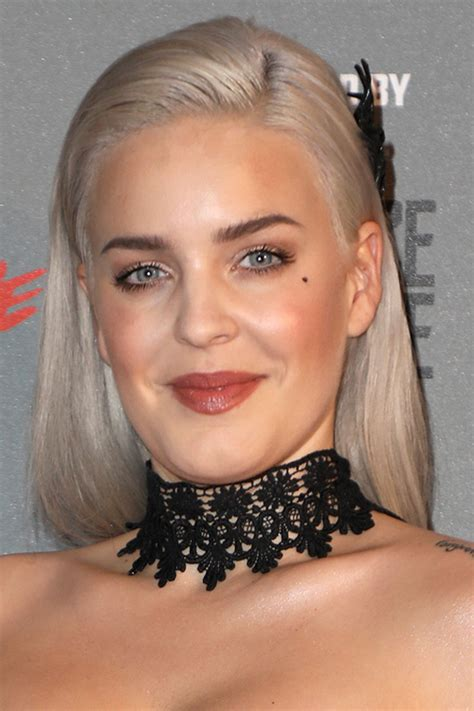 Anne-Marie Straight Silver Uneven Color Hairstyle   Steal