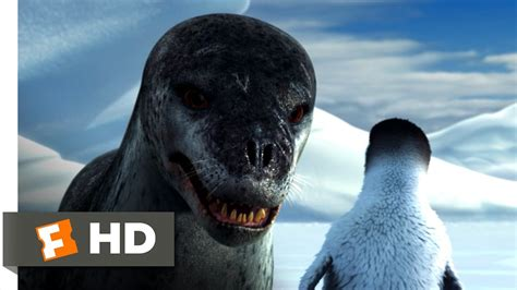 Happy Feet (3/10) Movie CLIP - Leopard Seal Chase (2006