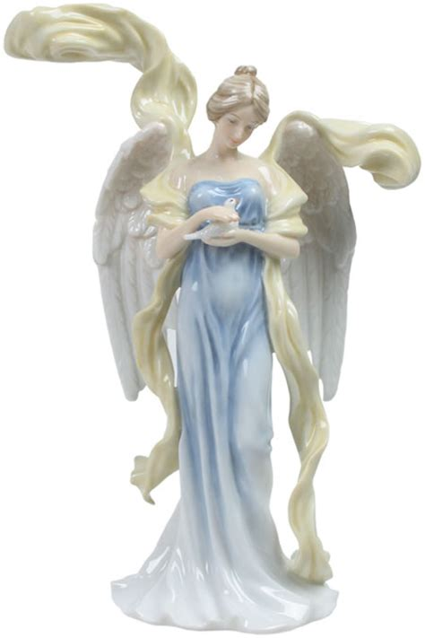 Peaceful Angel with Resting Dove Sculpture, STU-Home