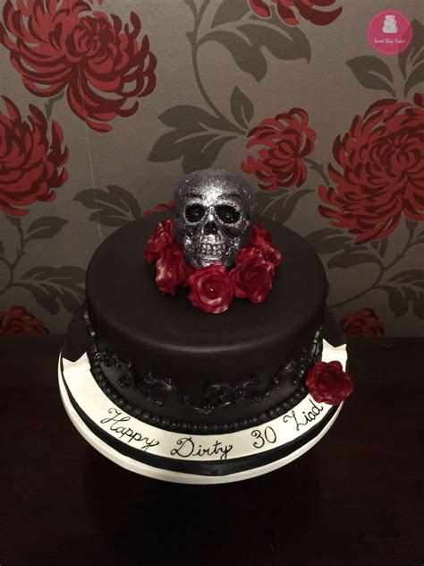 Skull And Roses Birthday Cake - CakeCentral