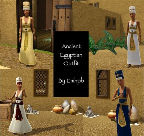 Mod The Sims - Ancient Egyptian Outfit for AF