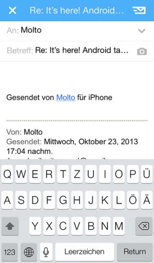 Mail-App Incredimail heißt nun Molto, iPhone- und Android