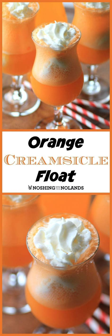 Orange Creamsicle Float - A cool, non-alcoholic drink that