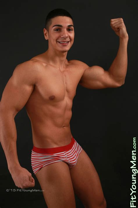 Andrew Huntly 18 year old personal trainer stripped to his